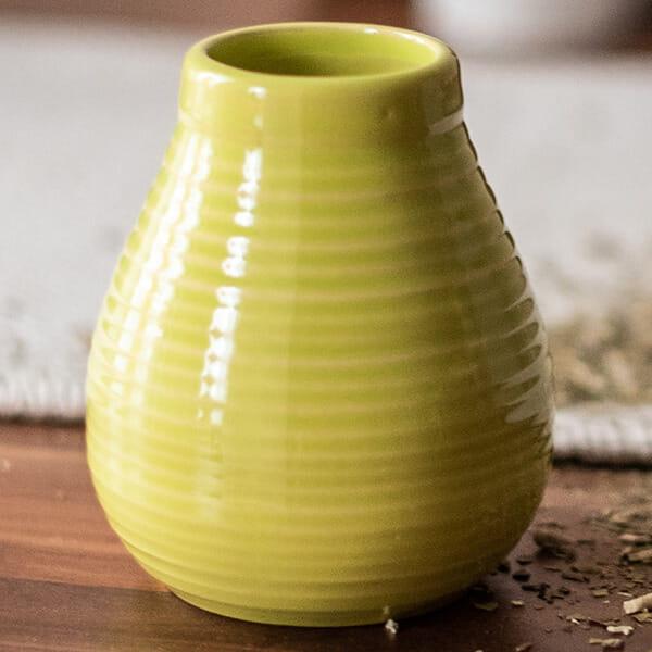 Tykwa Ceramiczna - miodowo żółta | photo