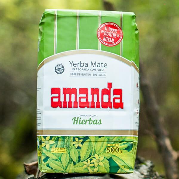 Amanda - Compuesta Con Hierbas Ziołowa | yerba mate | 500g